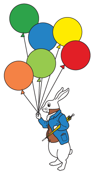 Alice's Montessori | Rabbit with Balloons